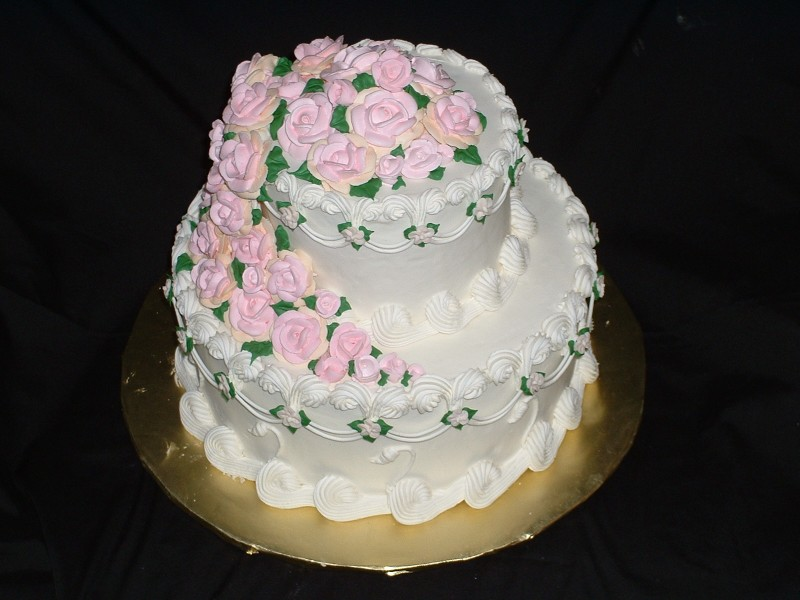 Cake Decorating Course In Hk : Rose and Swan Cake
